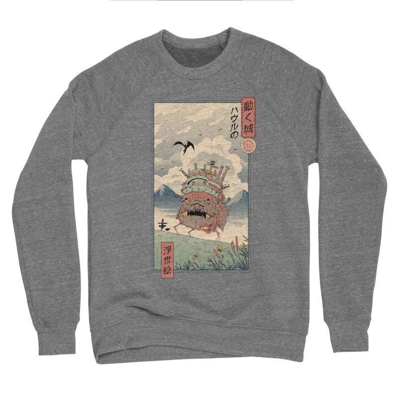 Moving Castle Ukiyo e Women's Sponge Fleece Sweatshirt by Vincent Trinidad Art
