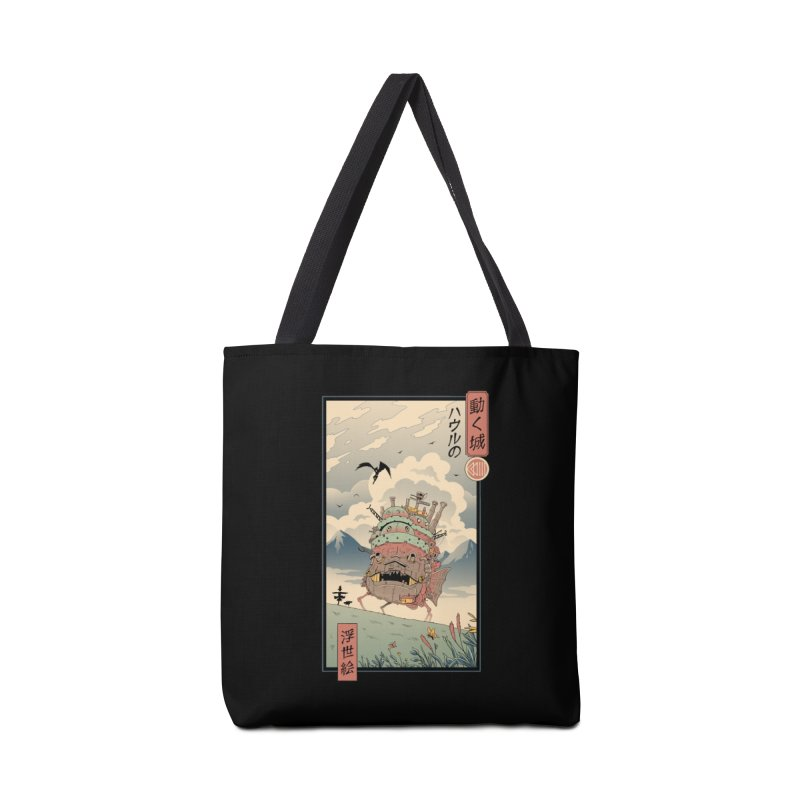 Moving Castle Ukiyo e Accessories Tote Bag Bag by Vincent Trinidad Art