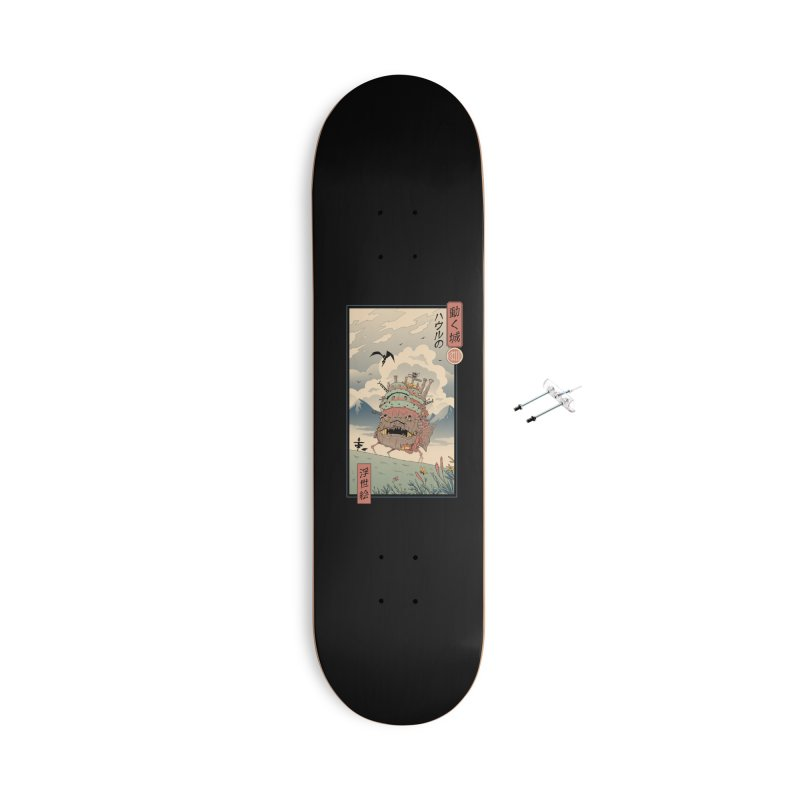 Moving Castle Ukiyo e Accessories With Hanging Hardware Skateboard by Vincent Trinidad Art