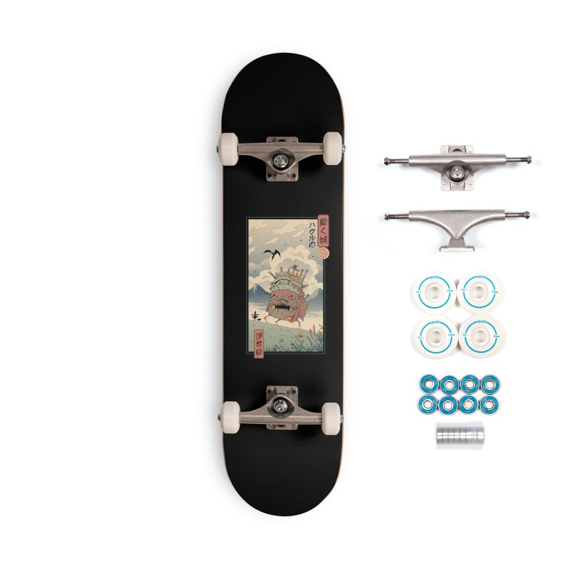 Moving Castle Ukiyo e Accessories Complete - Basic Skateboard by Vincent Trinidad Art