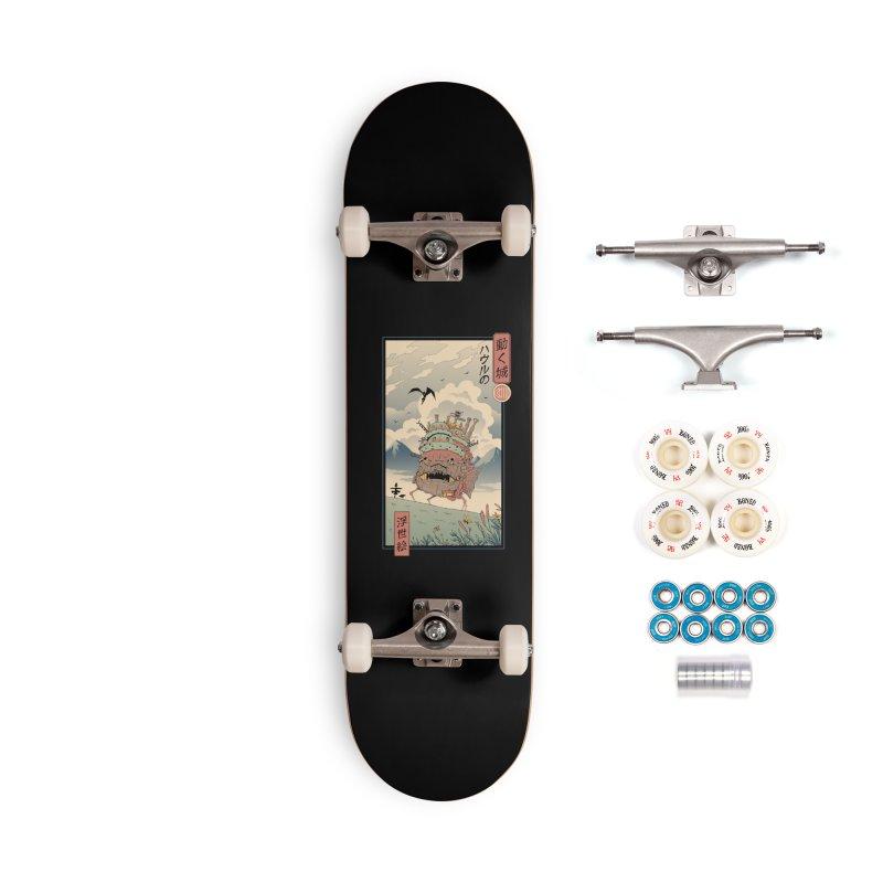 Moving Castle Ukiyo e Accessories Complete - Premium Skateboard by Vincent Trinidad Art