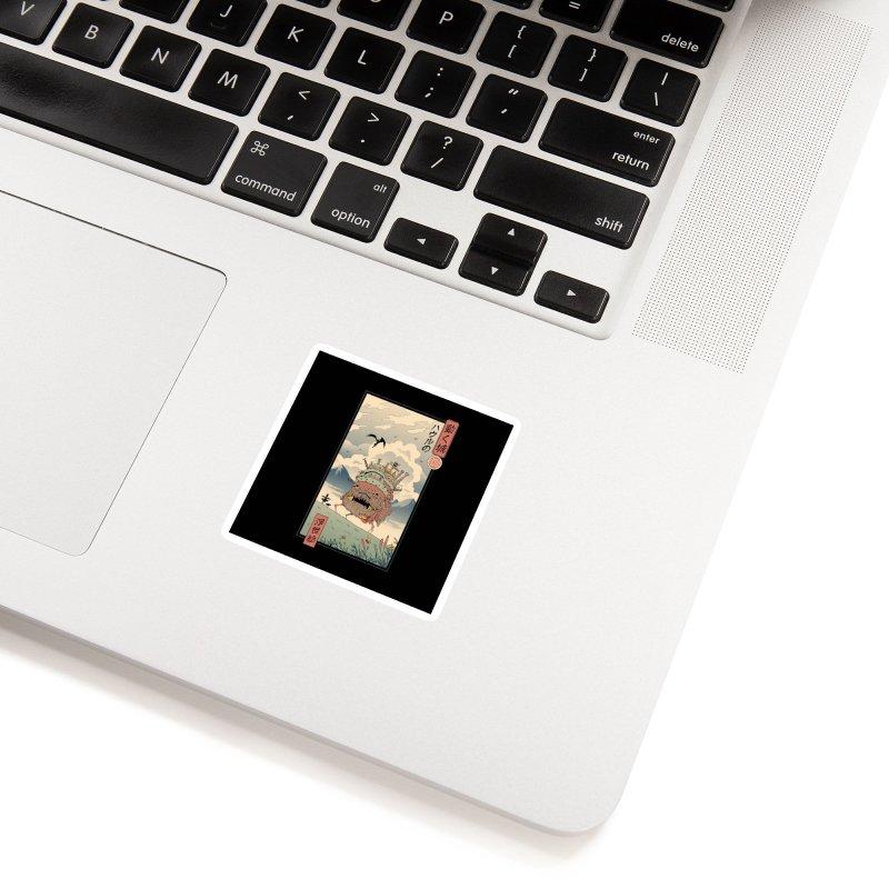 Moving Castle Ukiyo e Accessories Sticker by Vincent Trinidad Art