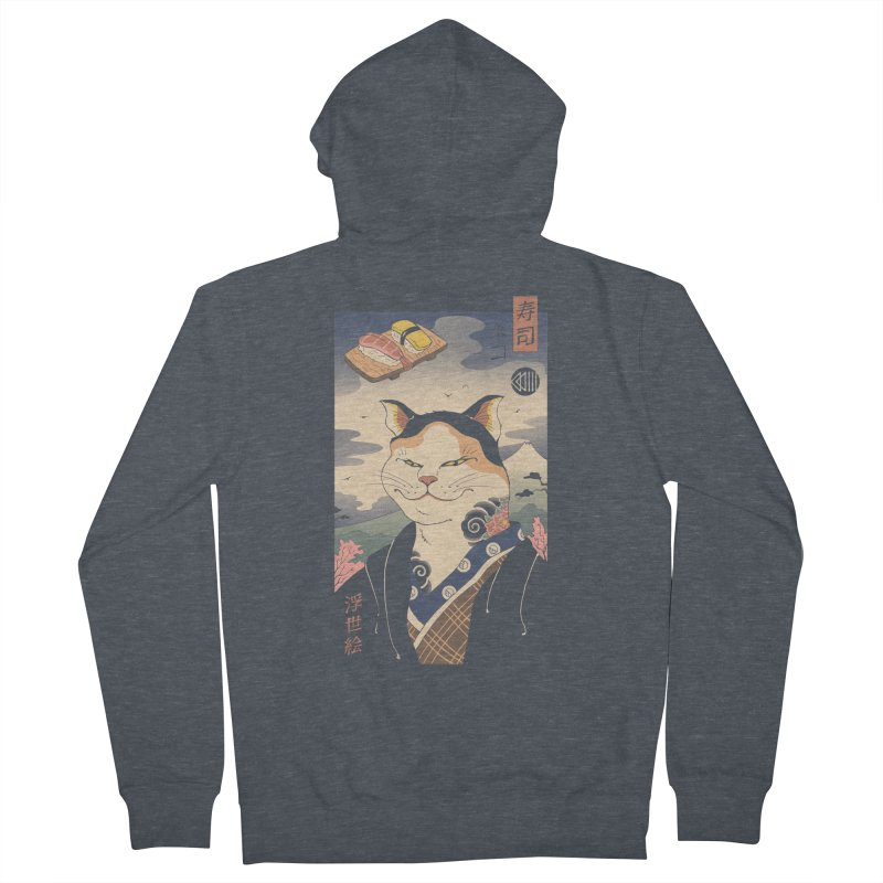 Nekoyo-e Men's French Terry Zip-Up Hoody by Vincent Trinidad Art