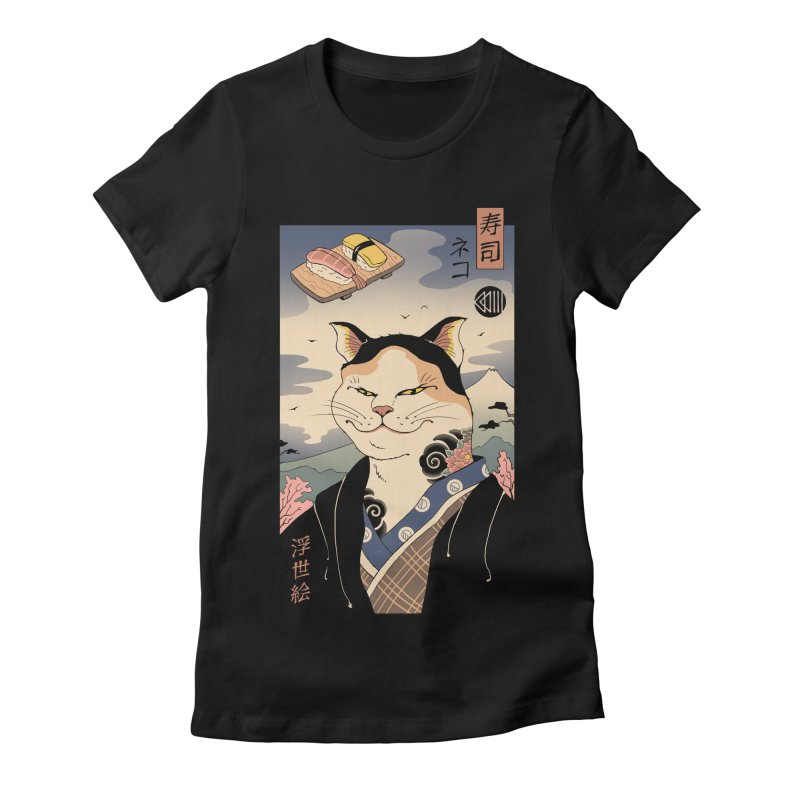 Nekoyo-e Women's Fitted T-Shirt by Vincent Trinidad Art