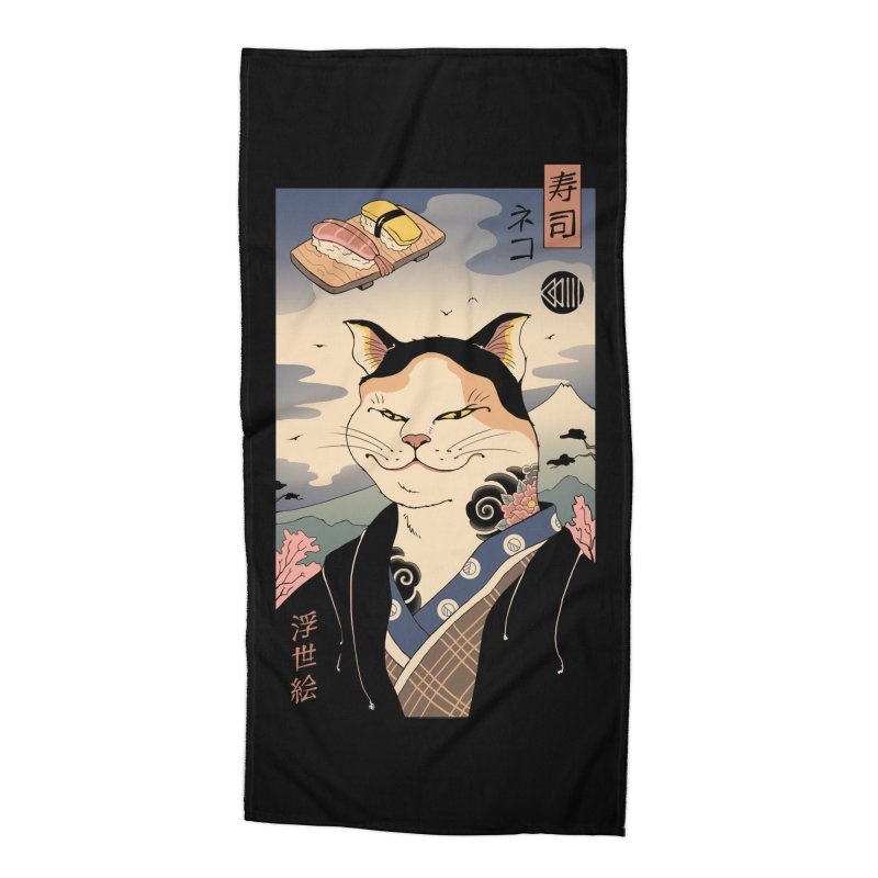 Nekoyo-e Accessories Beach Towel by Vincent Trinidad Art