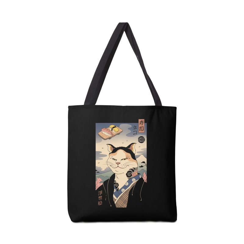 Nekoyo-e Accessories Tote Bag Bag by Vincent Trinidad Art