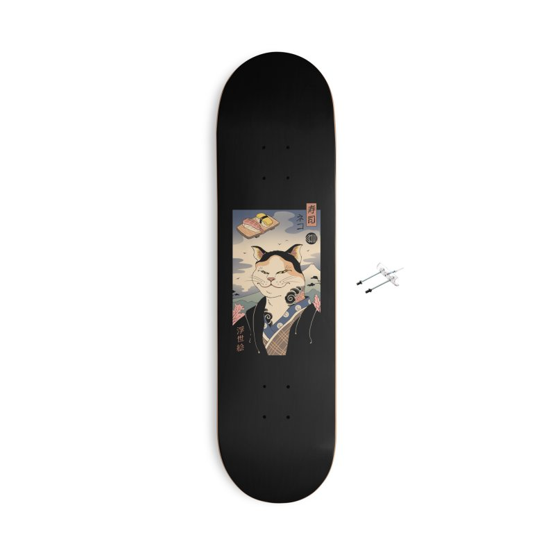 Nekoyo-e Accessories With Hanging Hardware Skateboard by Vincent Trinidad Art