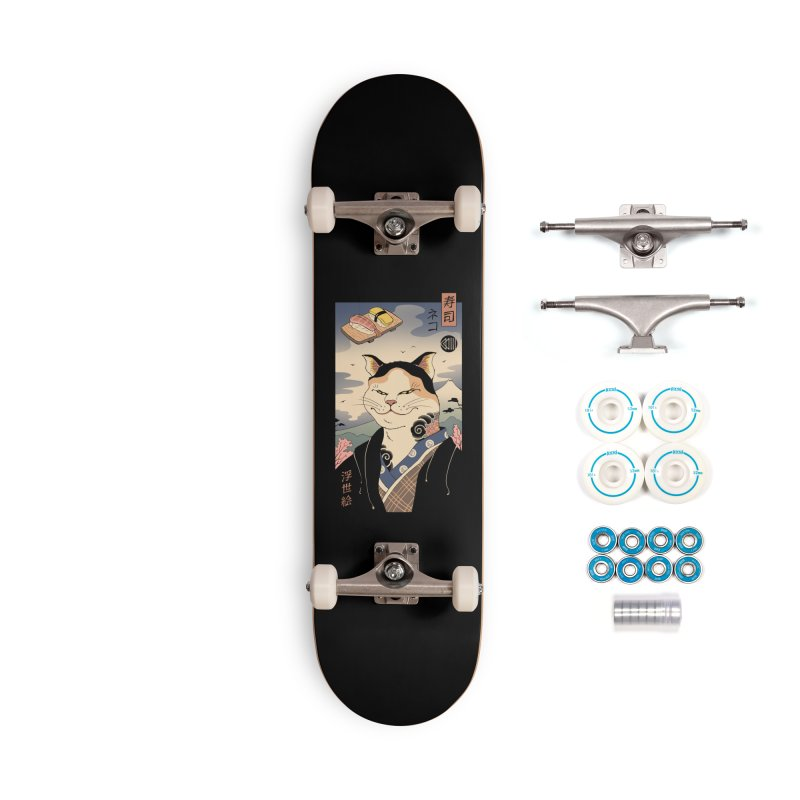 Nekoyo-e Accessories Complete - Basic Skateboard by Vincent Trinidad Art
