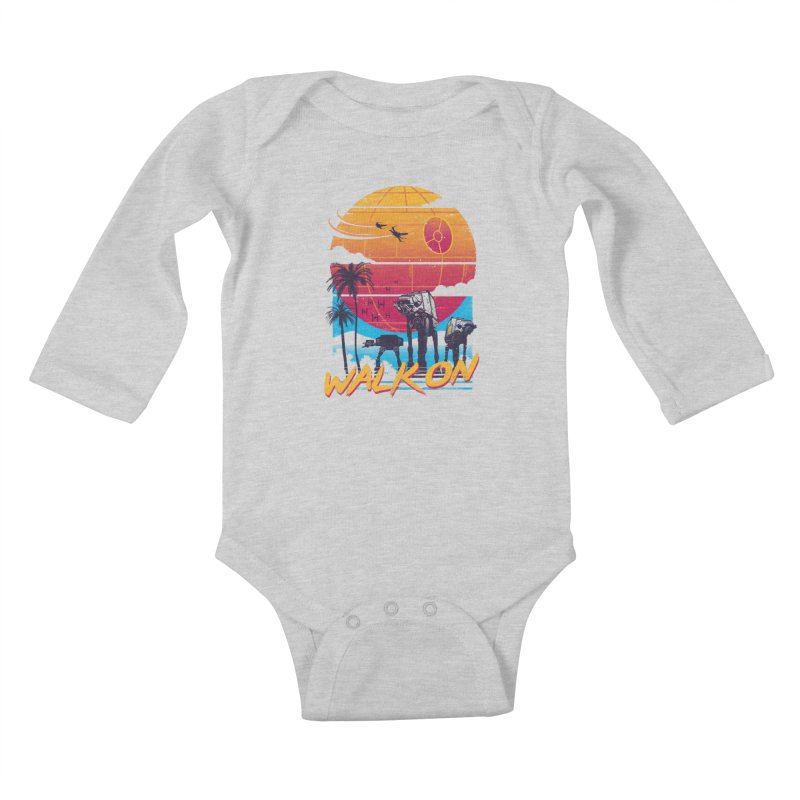 Walk On Kids Baby Longsleeve Bodysuit by vincenttrinidad's Artist Shop