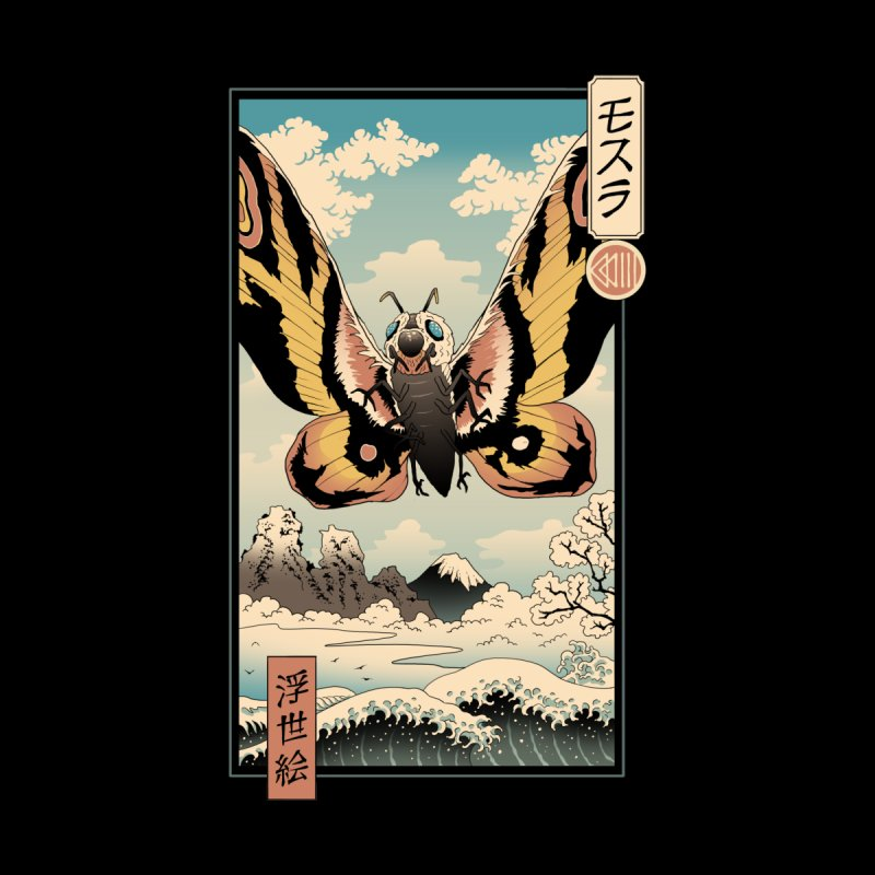 Ancient Moth Ukiyo-e Home Tapestry by Vincent Trinidad Art