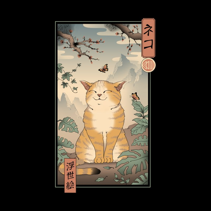 Edo Cat Home Mounted Acrylic Print by Vincent Trinidad Art