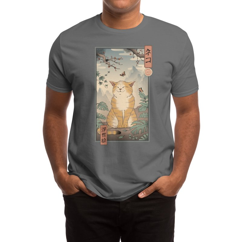 Edo Cat Men's T-Shirt by Vincent Trinidad Art