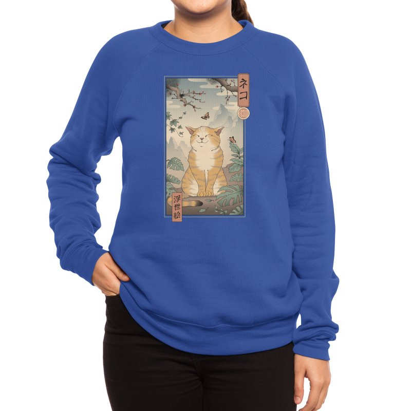 Edo Cat Women's Sweatshirt by Vincent Trinidad Art
