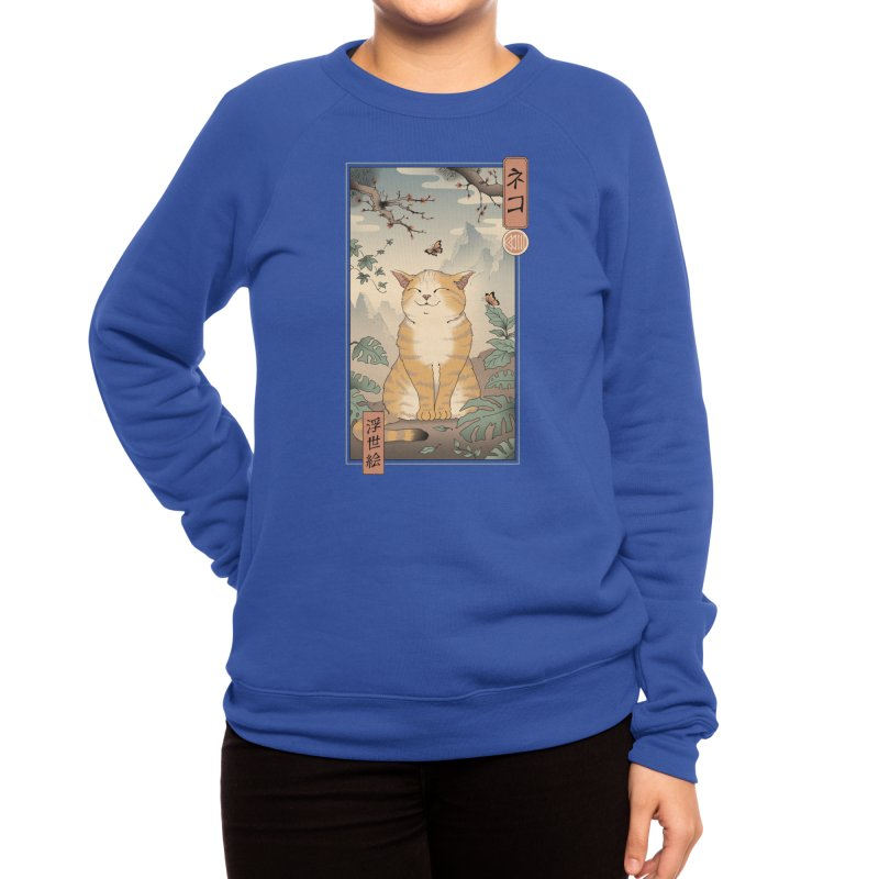 Edo Cat Women's Sweatshirt by Vincent Trinidad Art