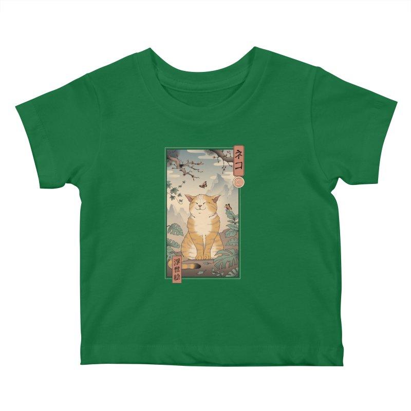 Edo Cat Kids Baby T-Shirt by Vincent Trinidad Art
