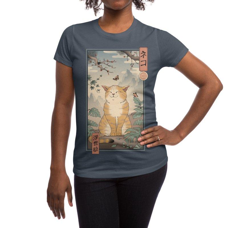 Edo Cat Women's T-Shirt by Vincent Trinidad Art