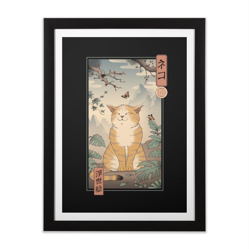 Edo Cat Home Framed Fine Art Print by Vincent Trinidad Art