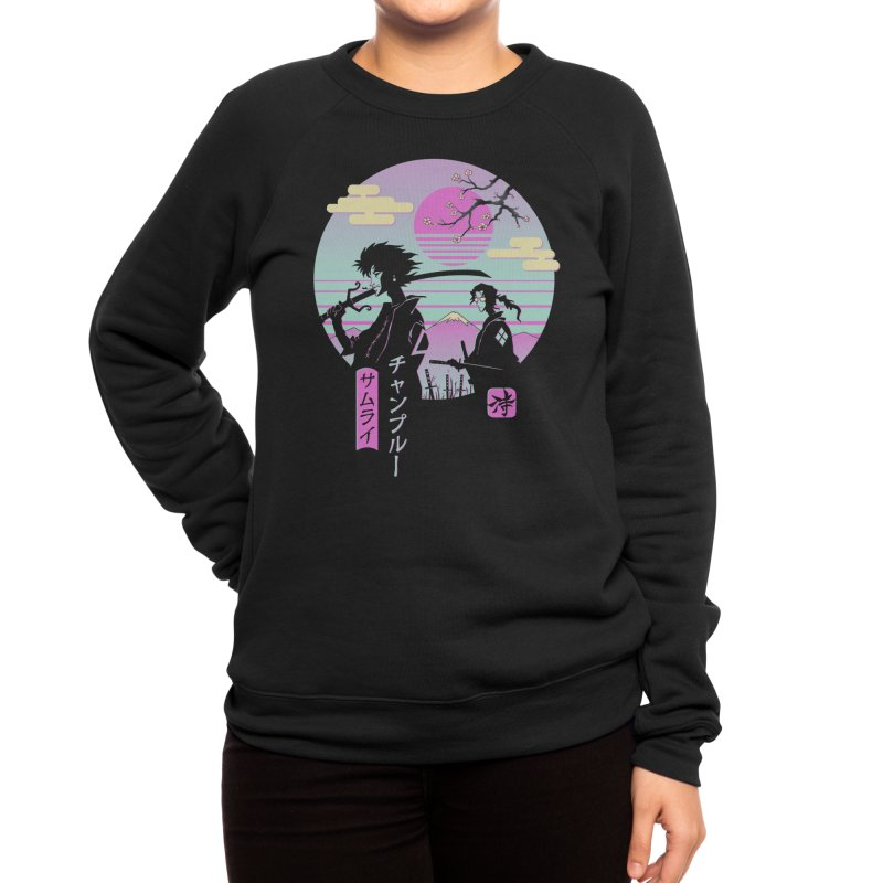 Samurai Chillhop Women's Sweatshirt by Vincent Trinidad Art