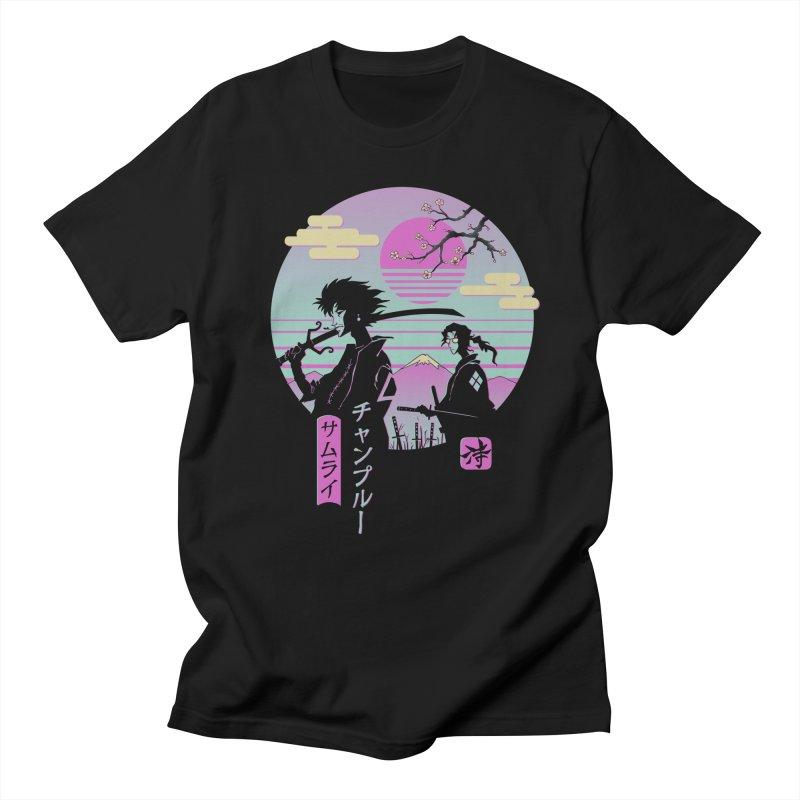 Samurai Chillhop Men's T-Shirt by Vincent Trinidad Art