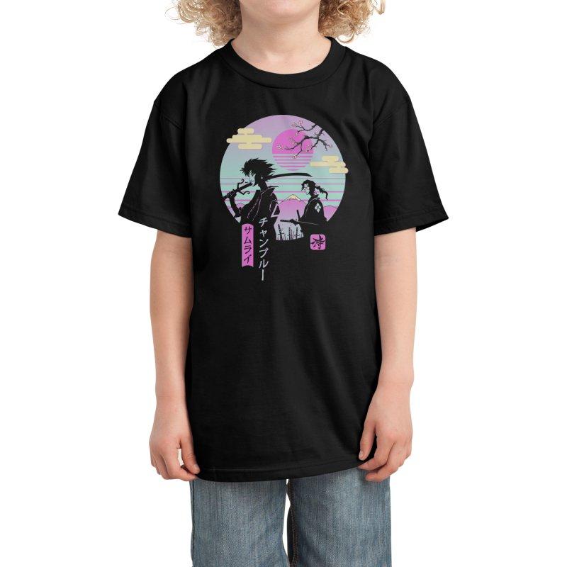 Samurai Chillhop Kids T-Shirt by Vincent Trinidad Art