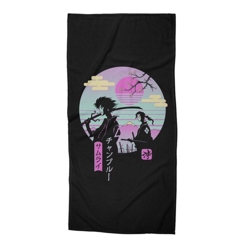 Samurai Chillhop Accessories Beach Towel by Vincent Trinidad Art