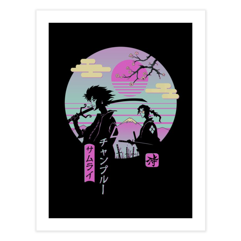 Samurai Chillhop Home Fine Art Print by Vincent Trinidad Art