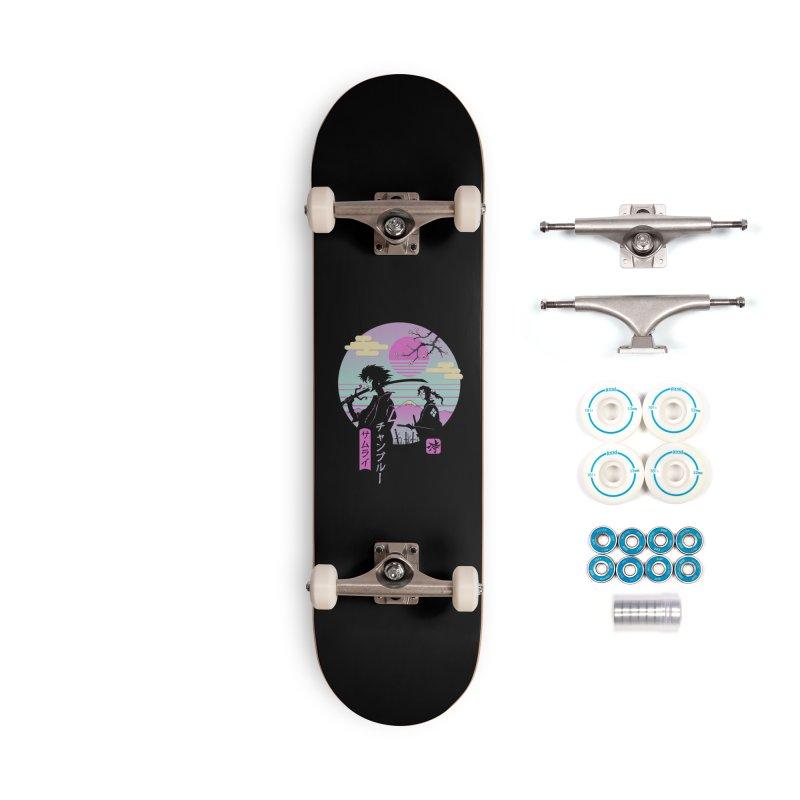 Samurai Chillhop Accessories Skateboard by Vincent Trinidad Art