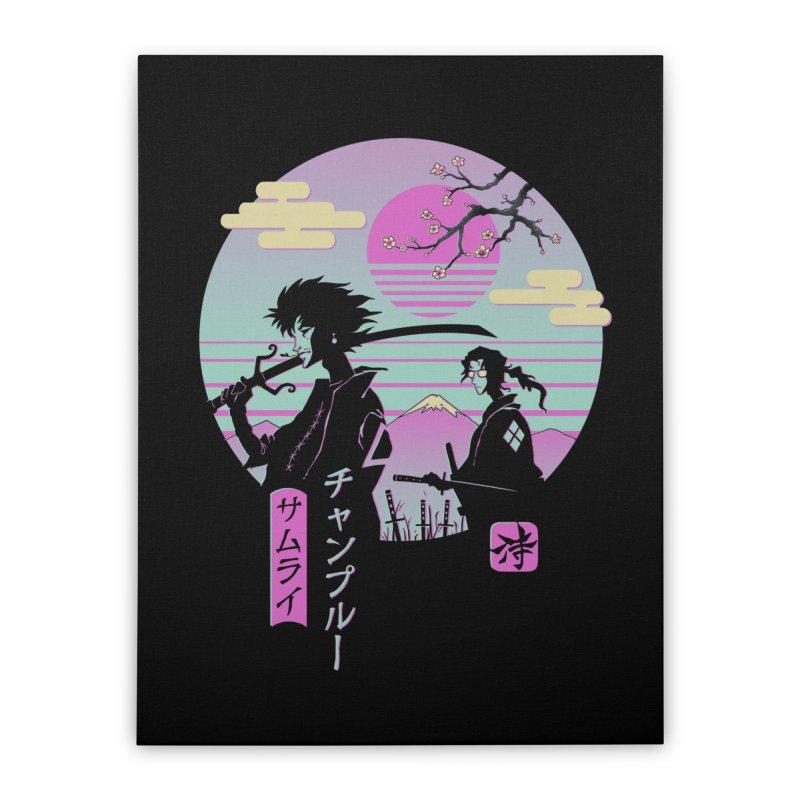 Samurai Chillhop Home Stretched Canvas by Vincent Trinidad Art