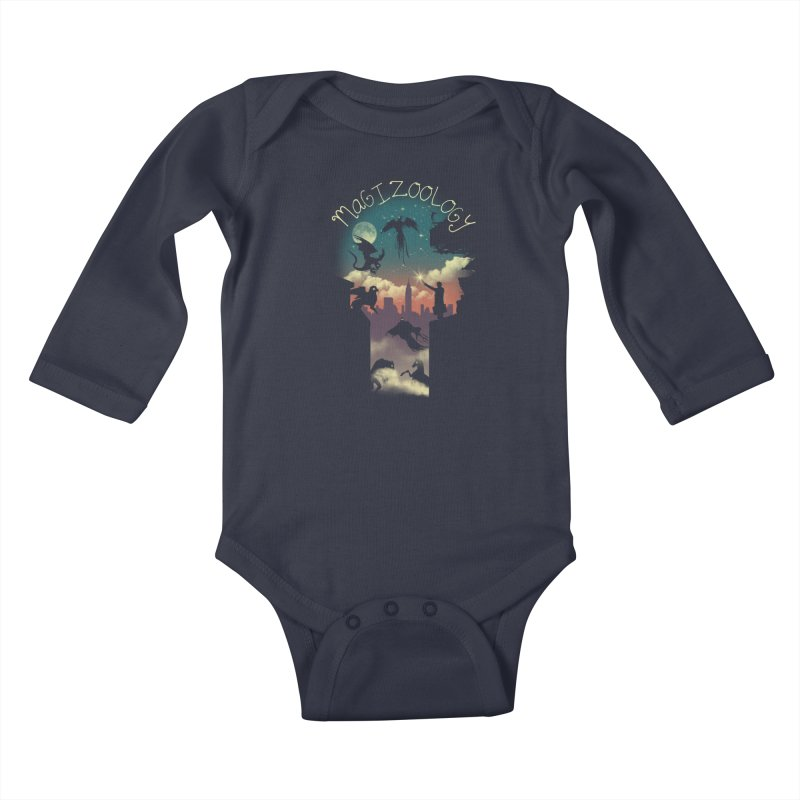 Magical Beasts Kids Baby Longsleeve Bodysuit by vincenttrinidad's Artist Shop