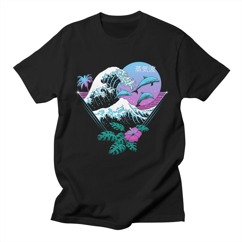 Dolphin Waves Men's T-Shirt by Vincent Trinidad Art