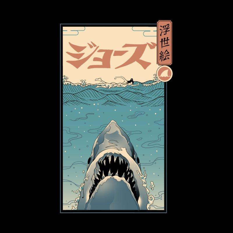 Shark Ukiyo-e Accessories Skateboard by Vincent Trinidad Art