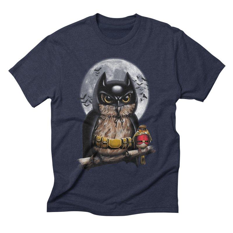 Knight Owl Men's Triblend T-shirt by vincenttrinidad's Artist Shop