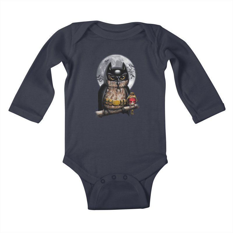 Knight Owl Kids Baby Longsleeve Bodysuit by vincenttrinidad's Artist Shop