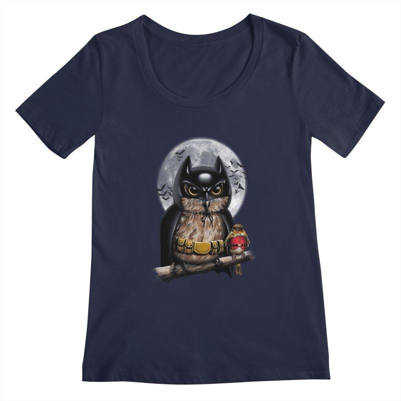Knight Owl Women's Scoopneck by vincenttrinidad's Artist Shop