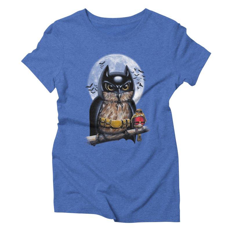 Knight Owl Women's Triblend T-shirt by vincenttrinidad's Artist Shop