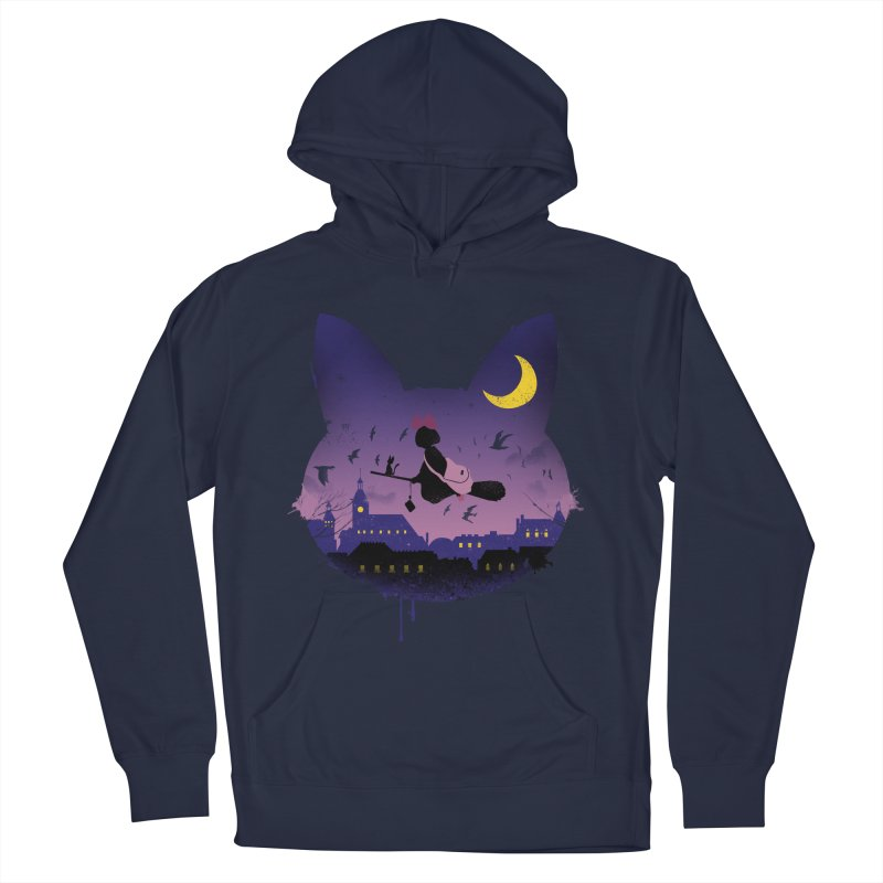 Midnight Cat Stroll Women's Pullover Hoody by vincenttrinidad's Artist Shop