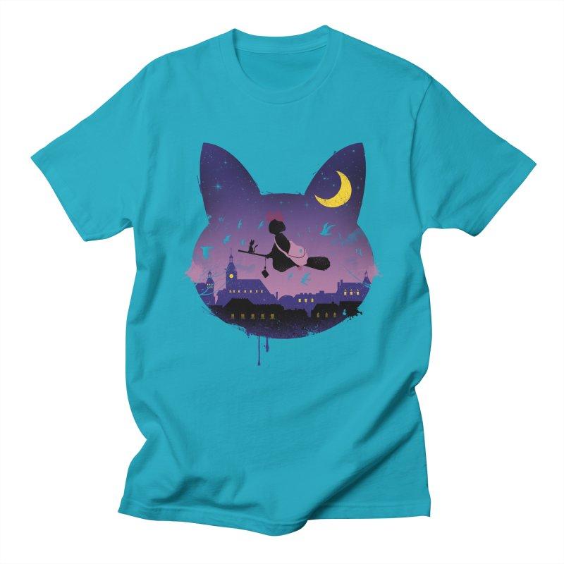 Midnight Cat Stroll Women's Unisex T-Shirt by vincenttrinidad's Artist Shop