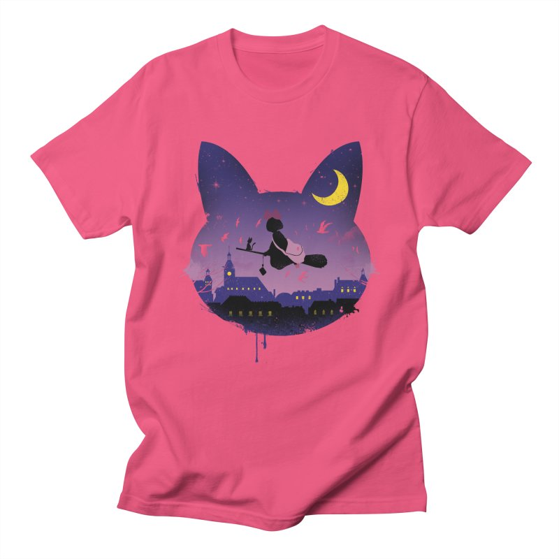 Midnight Cat Stroll Men's T-shirt by vincenttrinidad's Artist Shop