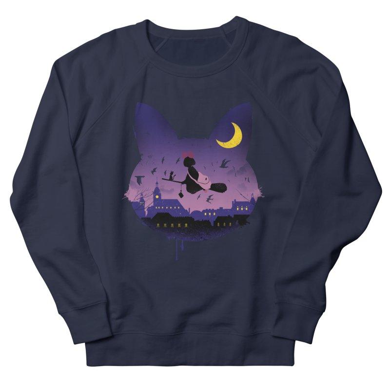 Midnight Cat Stroll Women's Sweatshirt by vincenttrinidad's Artist Shop