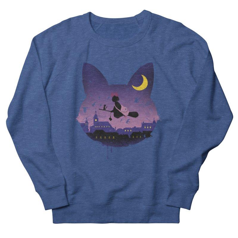 Midnight Cat Stroll Men's Sweatshirt by vincenttrinidad's Artist Shop
