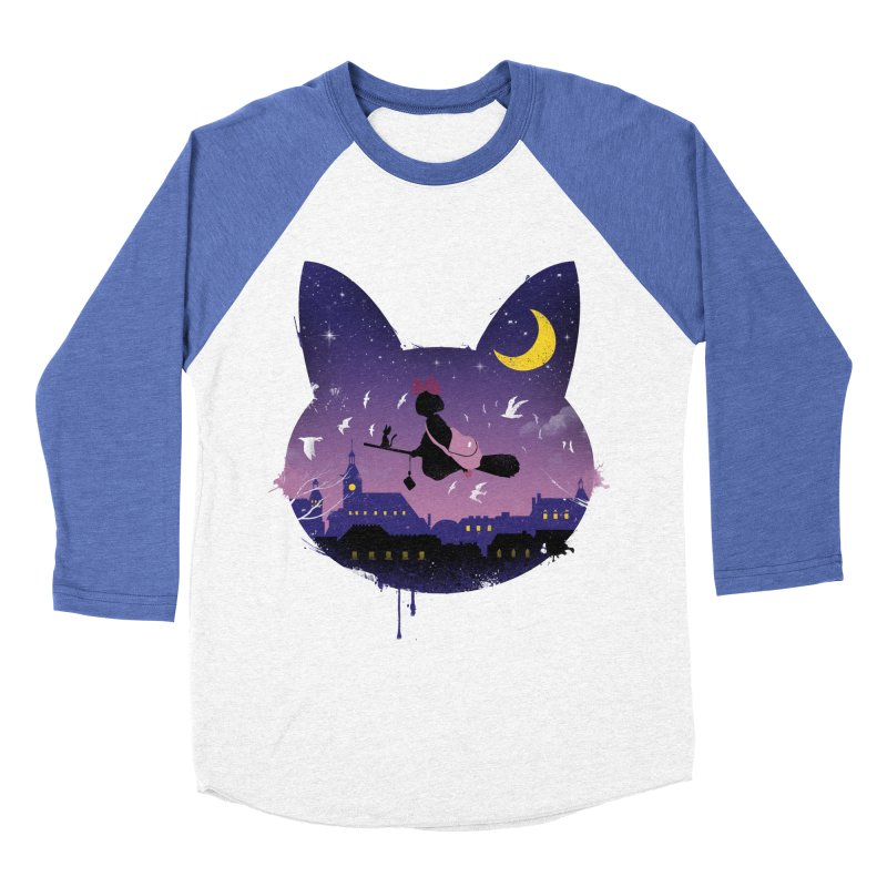 Midnight Cat Stroll Men's Baseball Triblend T-Shirt by vincenttrinidad's Artist Shop