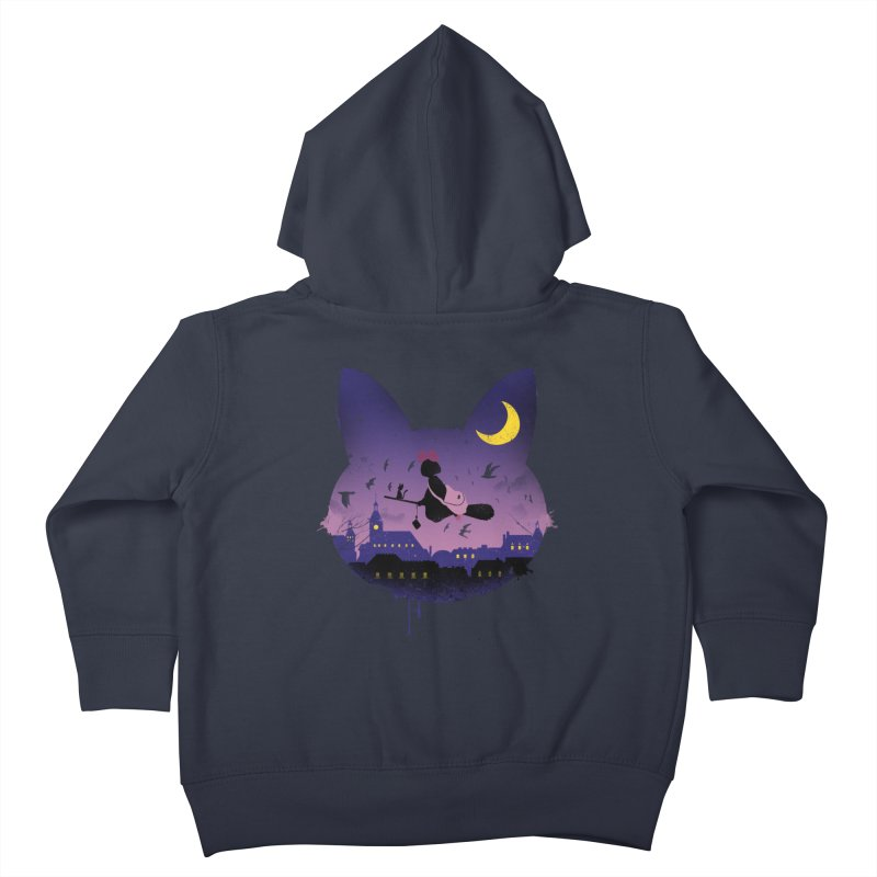Midnight Cat Stroll Kids Toddler Zip-Up Hoody by vincenttrinidad's Artist Shop