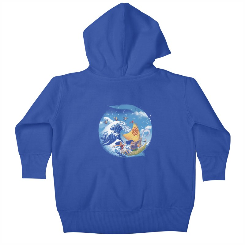 A Tropical Journey Kids Baby Zip-Up Hoody by vincenttrinidad's Artist Shop
