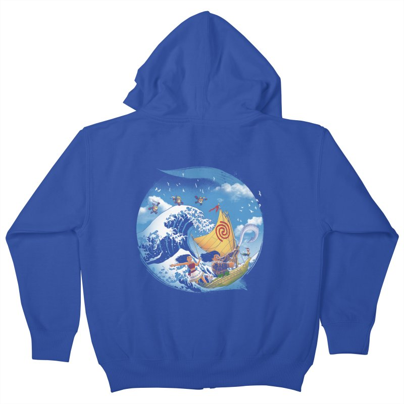 A Tropical Journey Kids Zip-Up Hoody by vincenttrinidad's Artist Shop