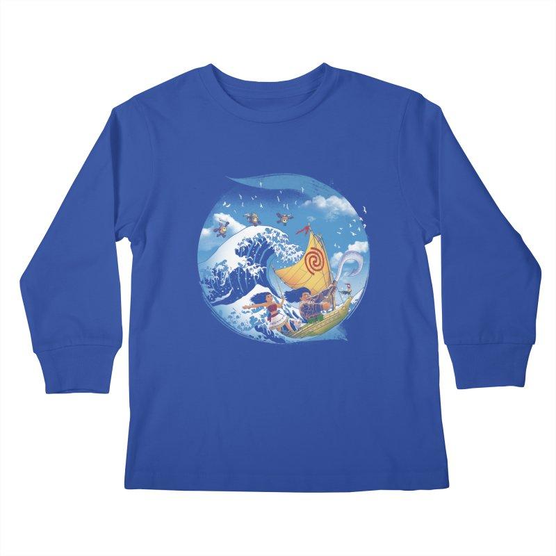 A Tropical Journey Kids Longsleeve T-Shirt by vincenttrinidad's Artist Shop
