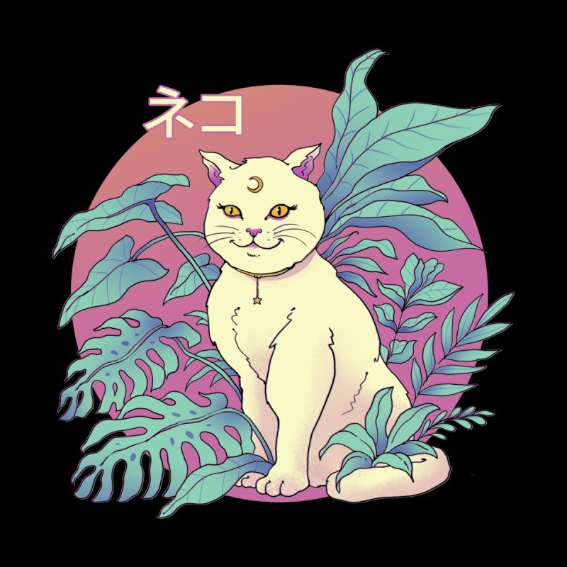 Vapor Cat Women's Sweatshirt by Vincent Trinidad Art
