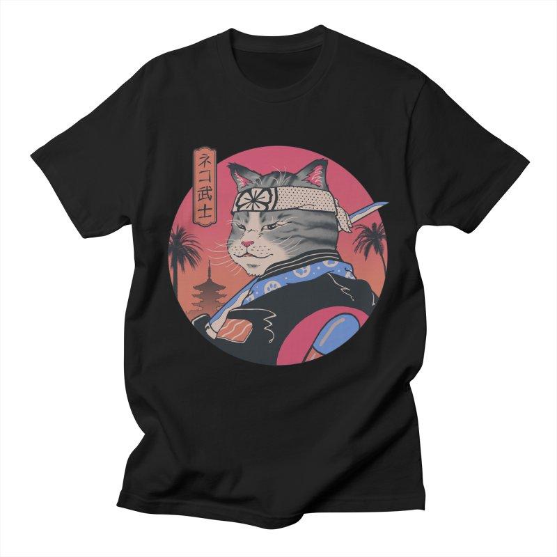 Samurai Cat Men's T-Shirt by Vincent Trinidad Art