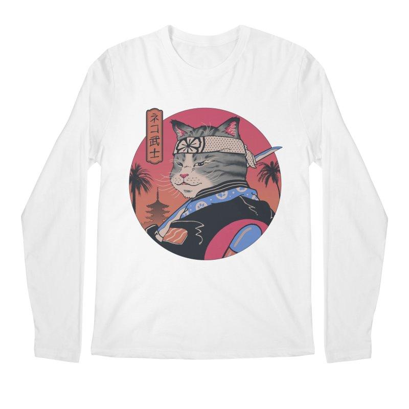Samurai Cat Men's Longsleeve T-Shirt by Vincent Trinidad Art
