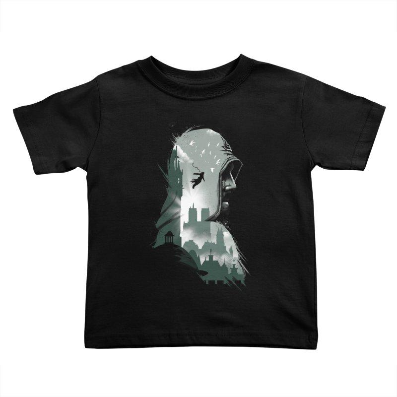 Assassin's Flight Kids Toddler T-Shirt by vincenttrinidad's Artist Shop