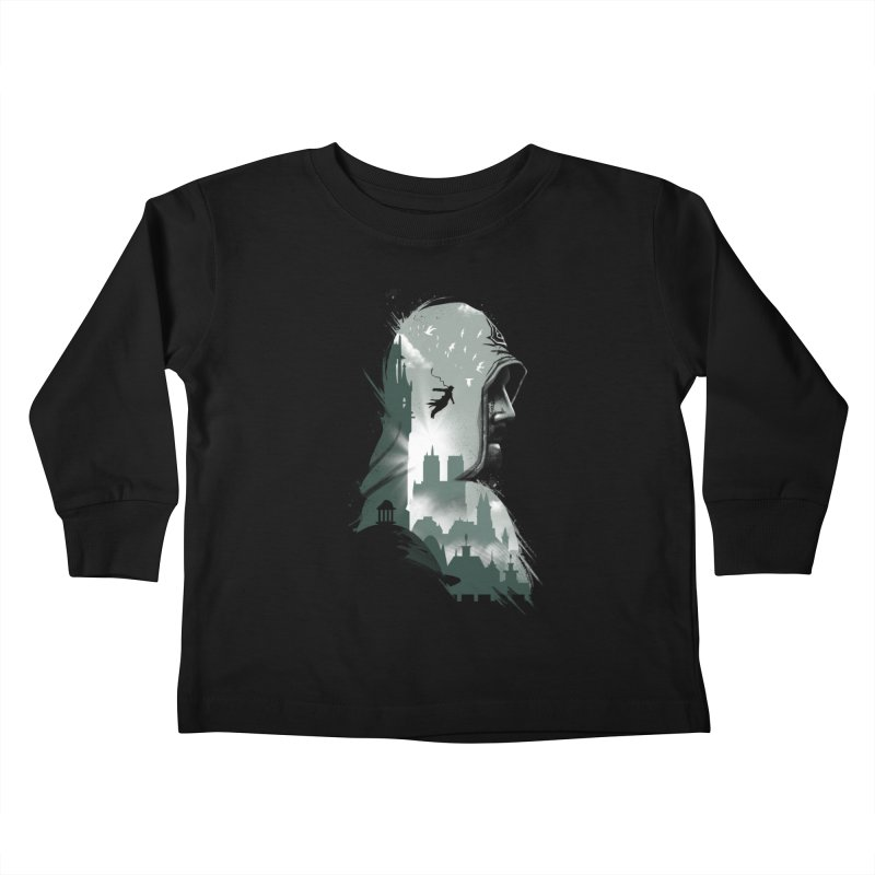 Assassin's Flight Kids Toddler Longsleeve T-Shirt by vincenttrinidad's Artist Shop